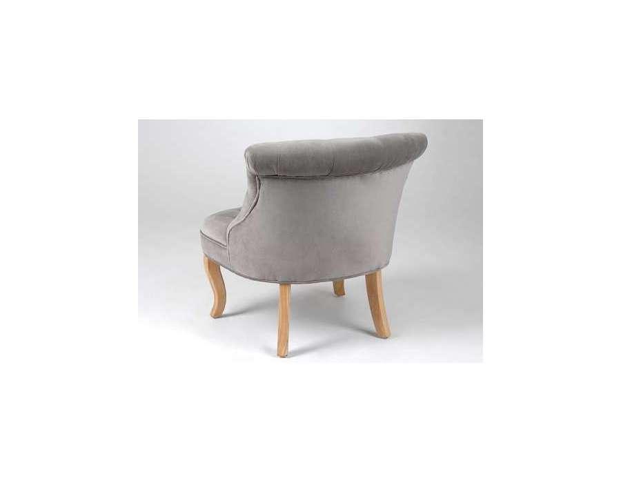 Le grenier de juliette amadeus meubles et d coration - Fauteuil crapaud velours gris ...