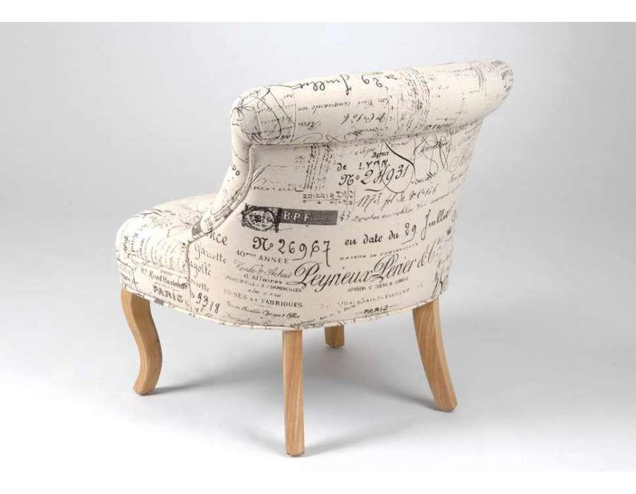 Fauteuil clubs baroque vintage moderne et chaise - Fauteuil crapaud imprime ...