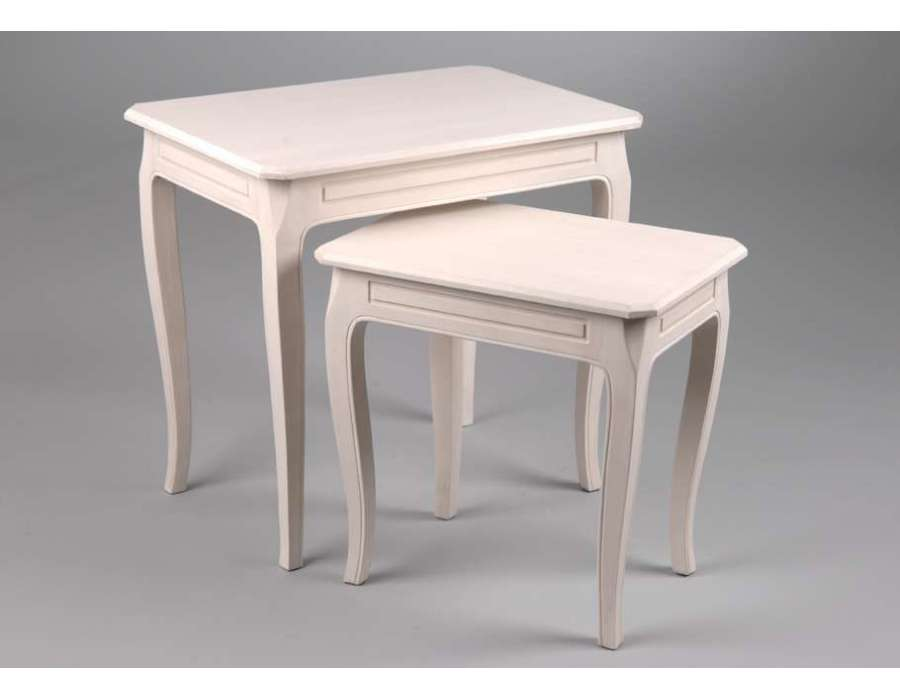 Tables gigognes baptiste blanches - Table gigogne blanche ...