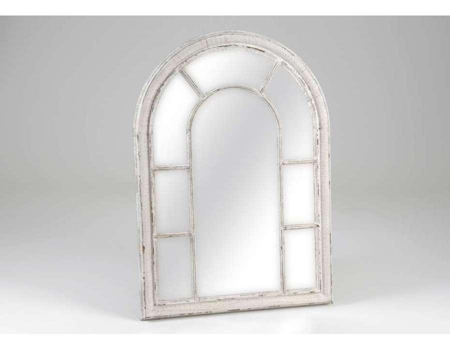 Miroir baroque et romantique miroir amadeus meubles for Miroir blanc vieilli
