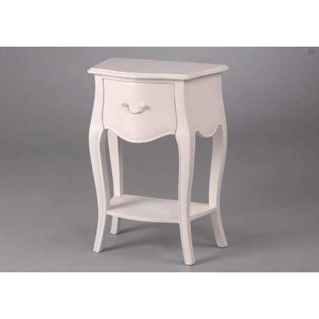 table de chevet blanc romantique. Black Bedroom Furniture Sets. Home Design Ideas