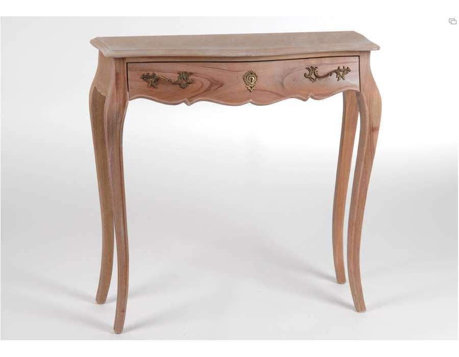Console peindre for Bureau en bois brut