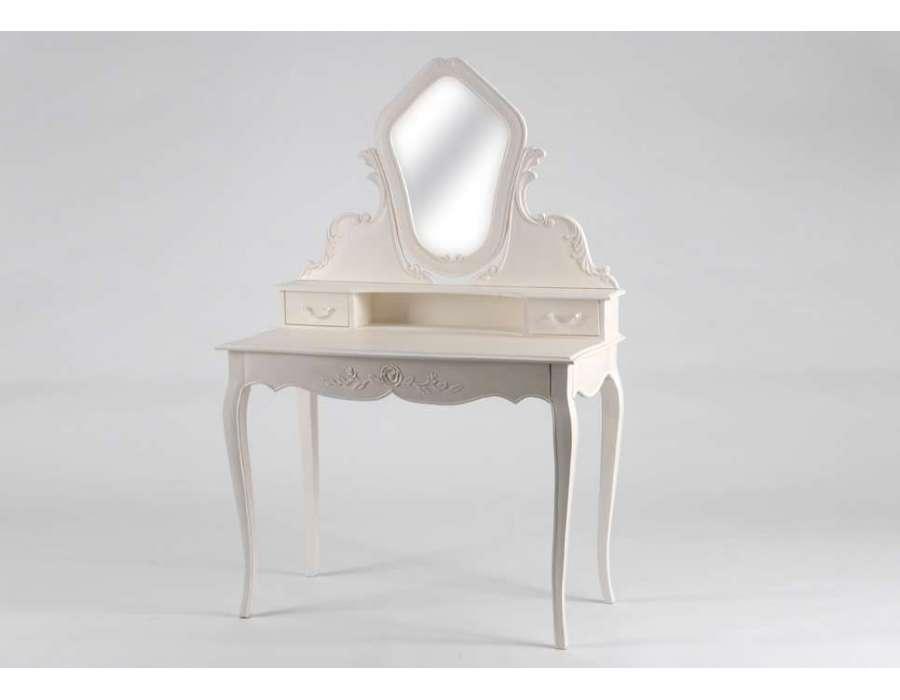 Meuble coiffeuse blanche pas cher meuble doccasion pas - Table de maquillage pas cher ...