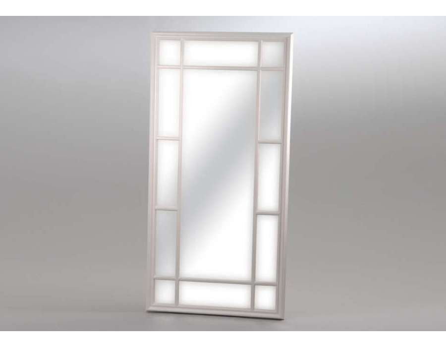 Amadeus miroir rectangulaire demeure en m tal 80 x 180 cm for Miroir quadrille kine
