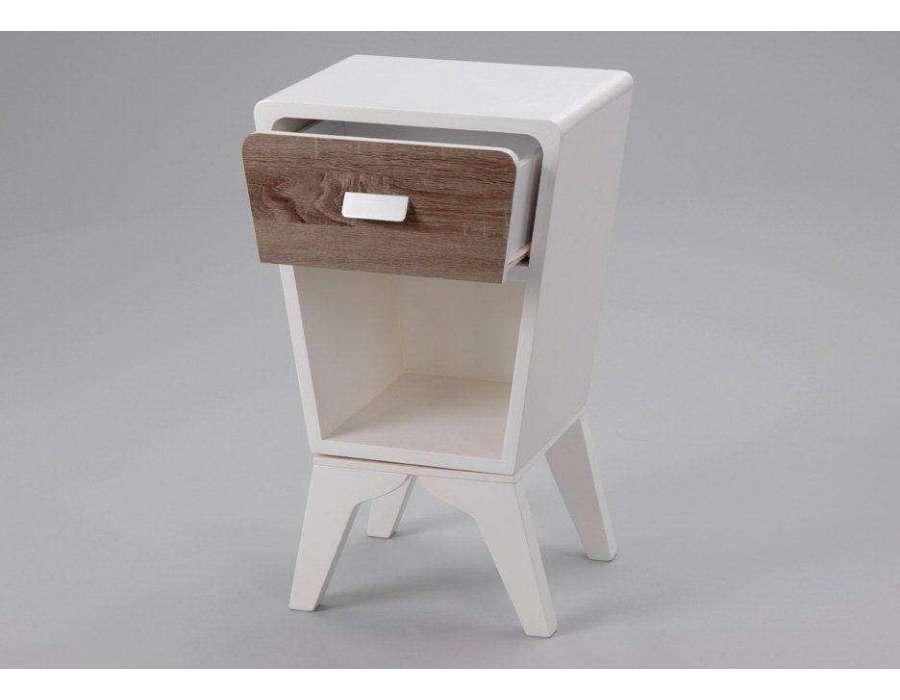 Le grenier de juliette amadeus meubles et d coration - Table de chevet blanche ...