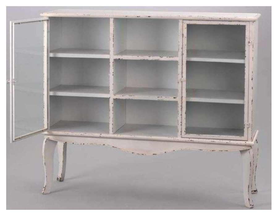 buffet en m tal blanc louis xv amadeus. Black Bedroom Furniture Sets. Home Design Ideas