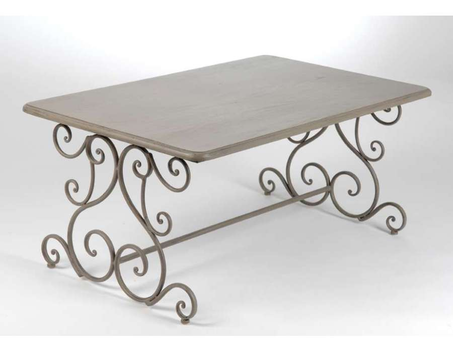 Table basse m tal taupe amadeus for Table basse amadeus
