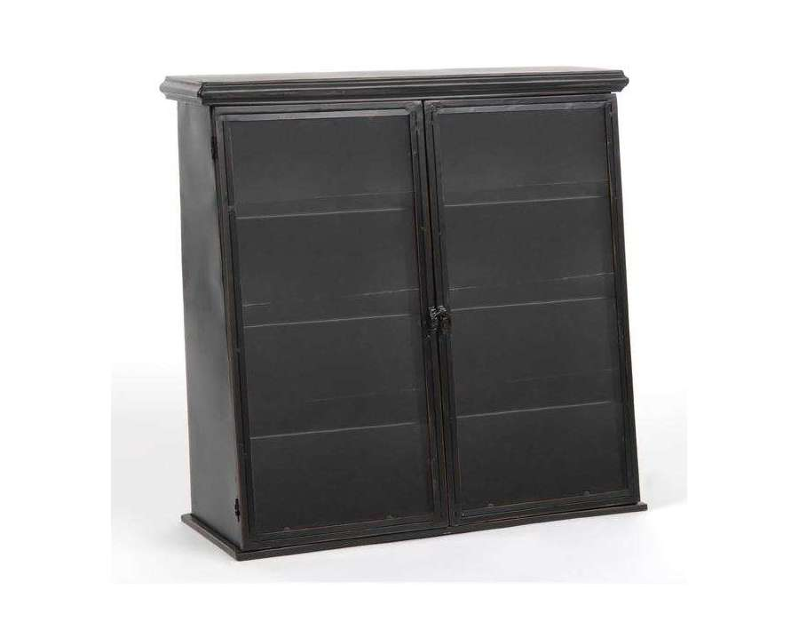 petite etag re industrielle en m tal noir. Black Bedroom Furniture Sets. Home Design Ideas