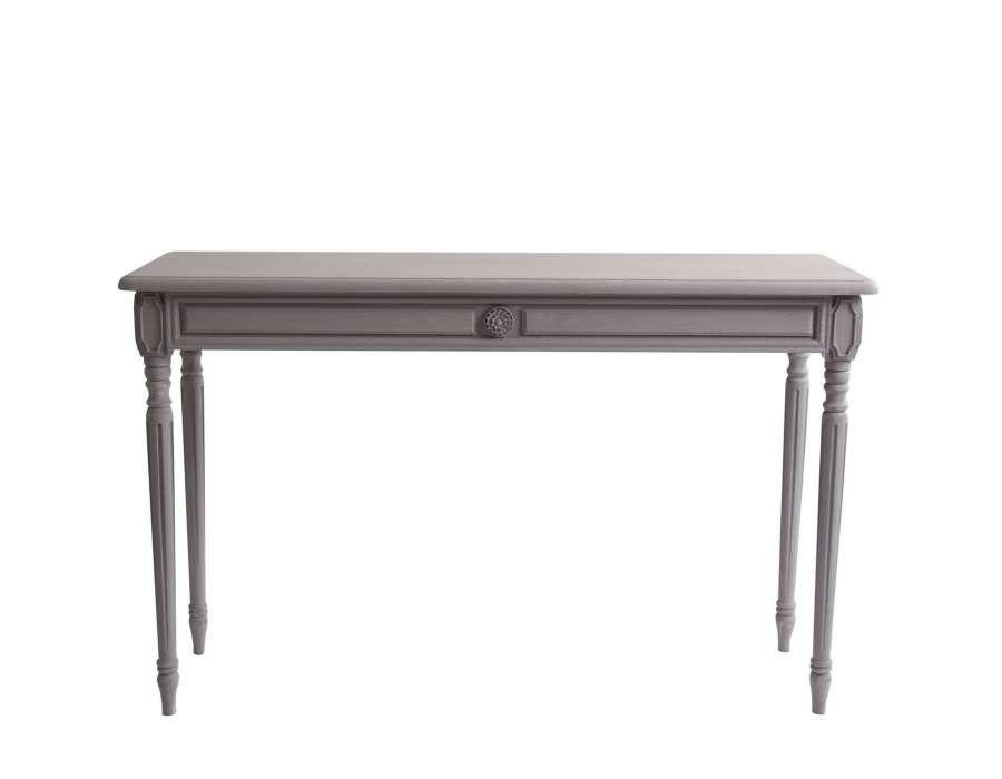 console patin e grise vical home. Black Bedroom Furniture Sets. Home Design Ideas