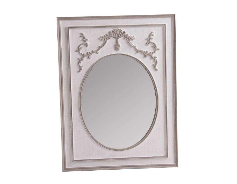 miroir charme blanchi taupe. Black Bedroom Furniture Sets. Home Design Ideas