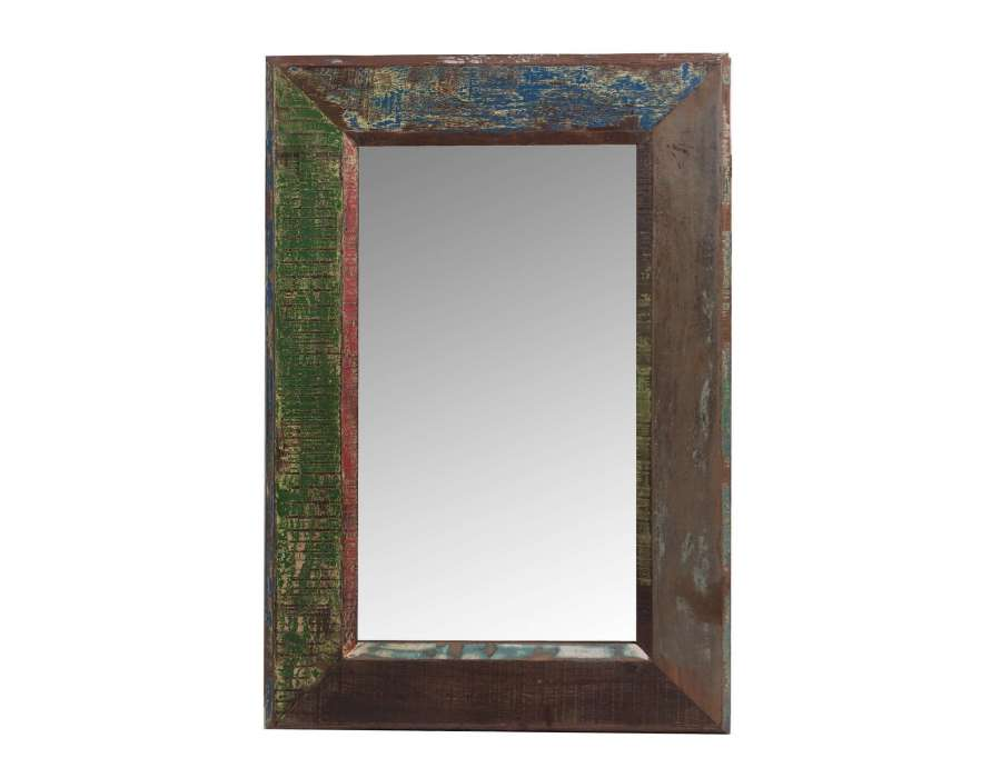 Miroir rectangulaire boh me vical home for Miroir boheme