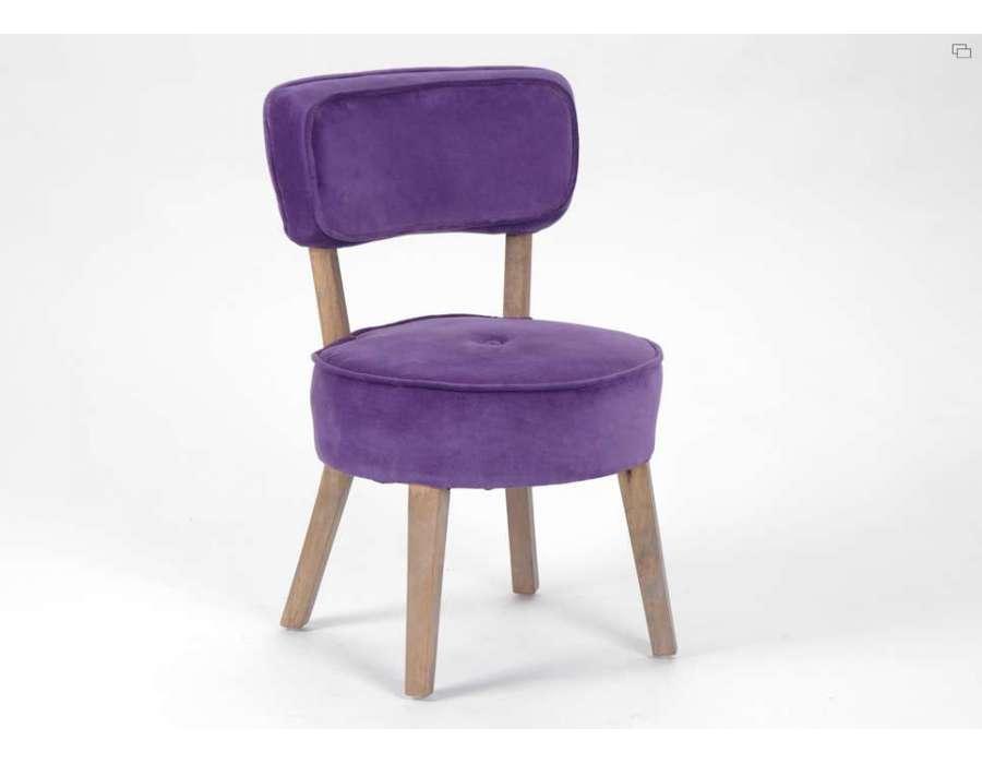 Fauteuil clubs baroque vintage moderne et chaise meubles amadeus et d co - Fauteuil cabriolet violet ...