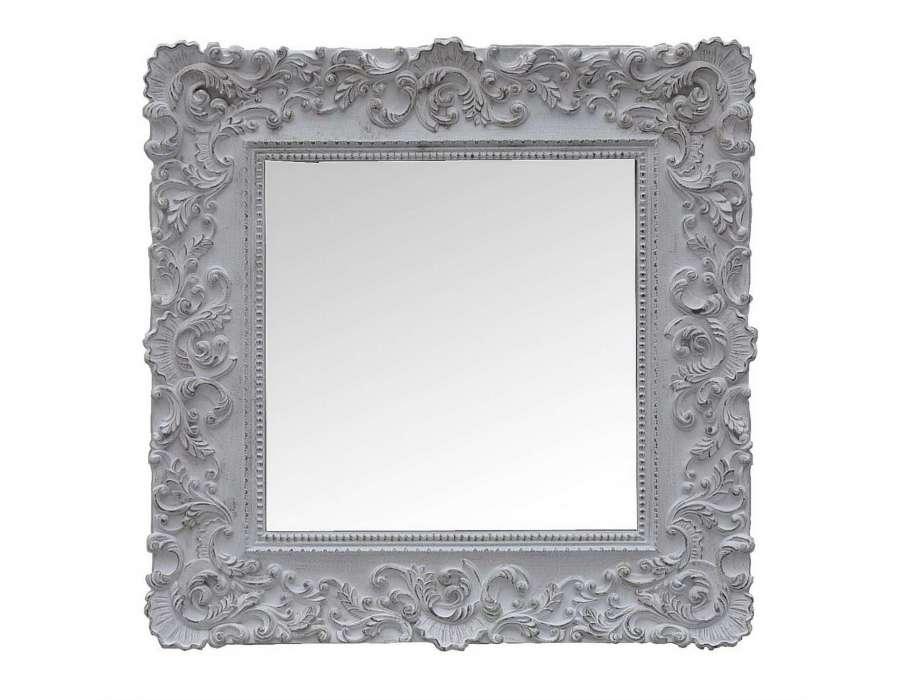Miroir romantique blanc patin for Miroir blanc romantique