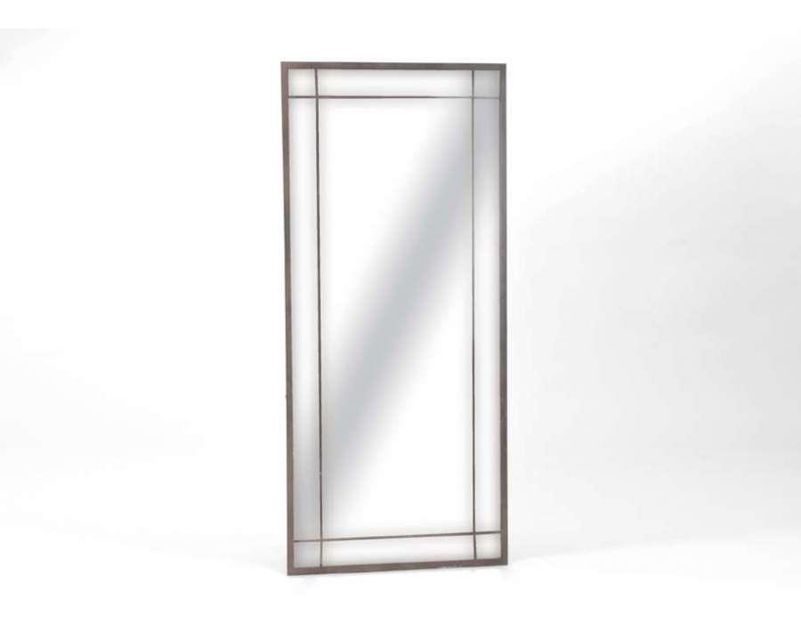 Amadeus miroir rectangulaire demeure en m tal 80 x 180 cm for Miroir grande demeure