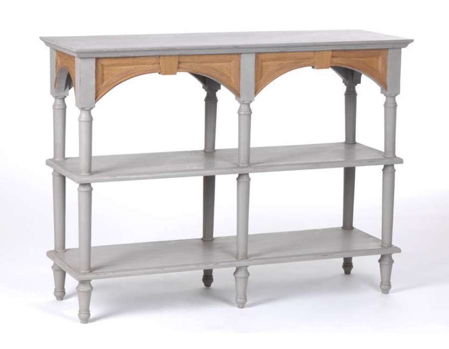 Meuble console gris conceptions de maison for Charme scandinave meubles