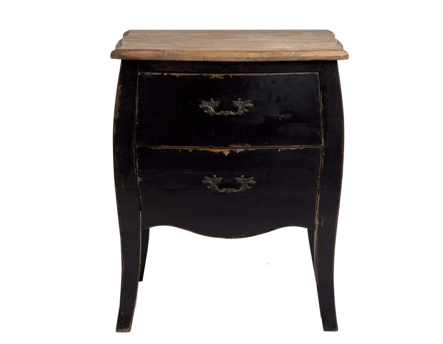 Table de chevet baroque noire vical home for Table de chevet style baroque
