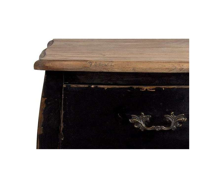 Table de chevet baroque noire vical home - Table de chevet noire ...