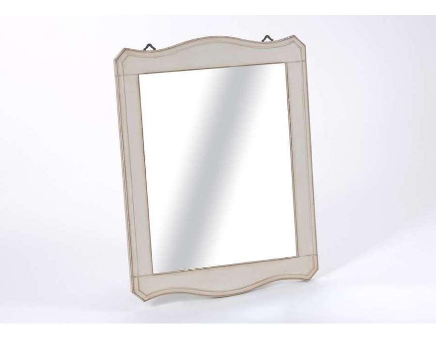 Miroir ivoire amadeus for Miroir rectangulaire