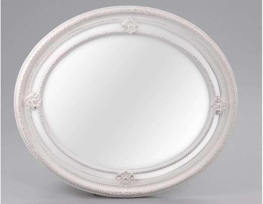 Miroir baroque et romantique miroir amadeus meubles for Miroir blanc romantique