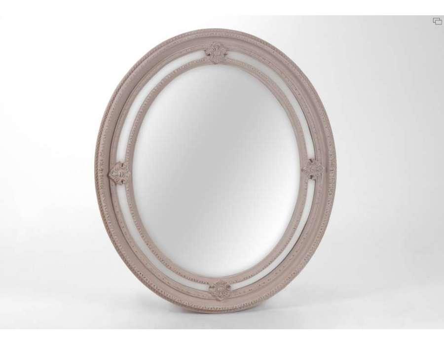 Miroir taupe oval 110 cm amadeus for Miroir 110 50