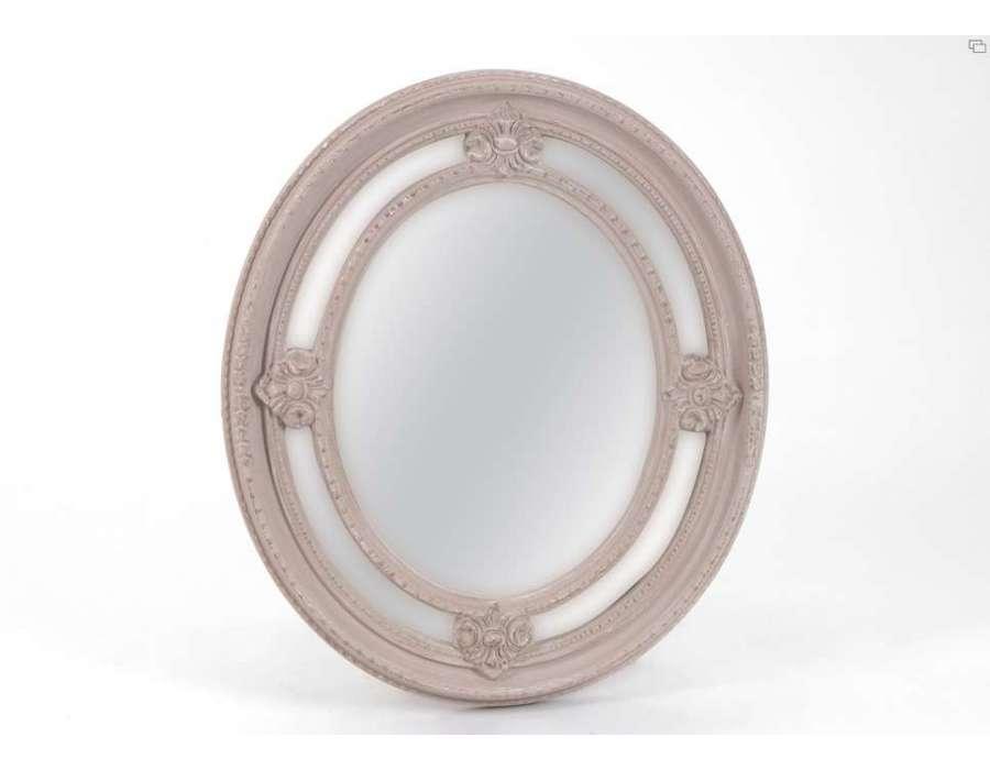 Miroir taupe oval 70 cm amadeus for Miroir 70 cm