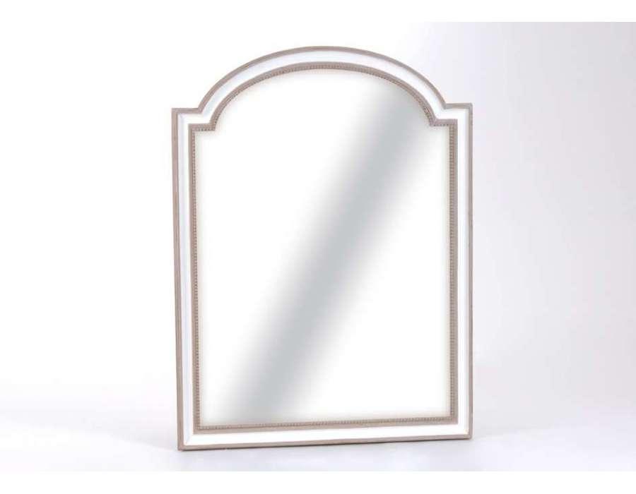Miroir classique blanc et taupe 120cm amadeus for Miroir 120 cm