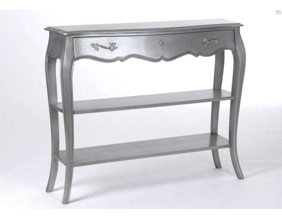meuble argent baroque console baroque gris. Black Bedroom Furniture Sets. Home Design Ideas