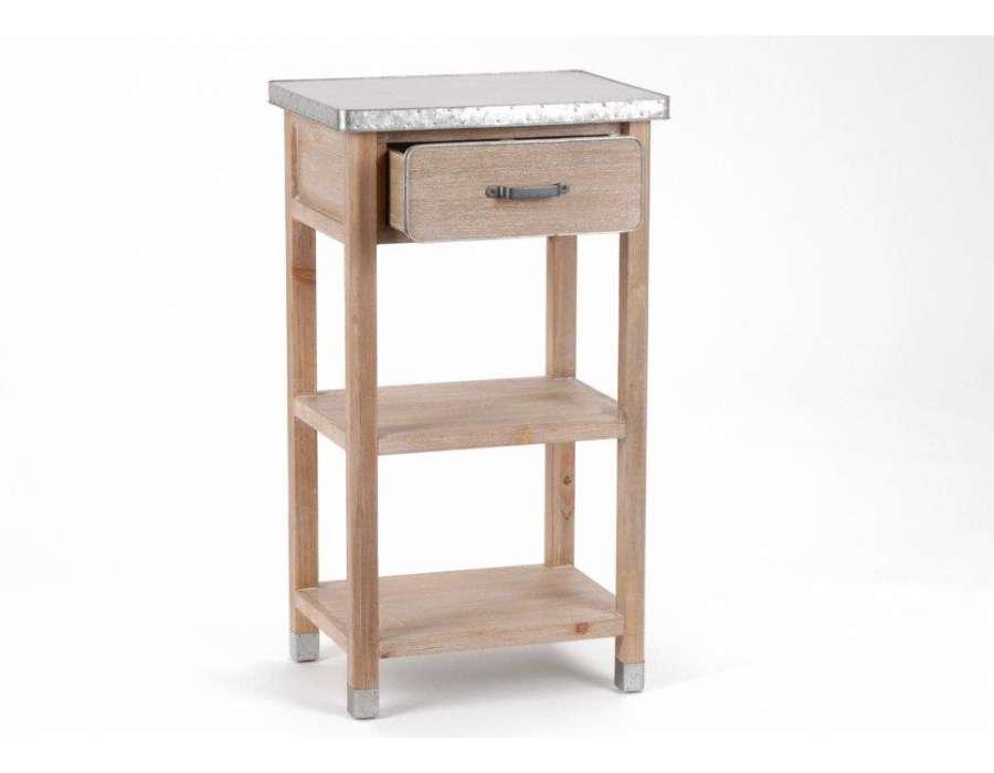 table d 39 appoint amadeus zinc. Black Bedroom Furniture Sets. Home Design Ideas