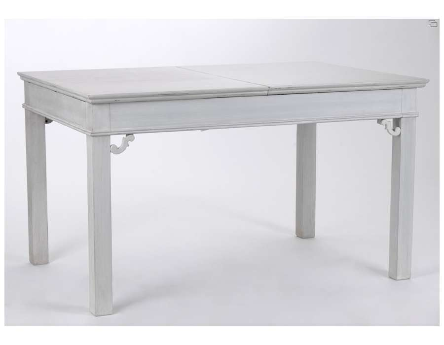 Table salle manger grise 170 cm for Table de salle a manger grise