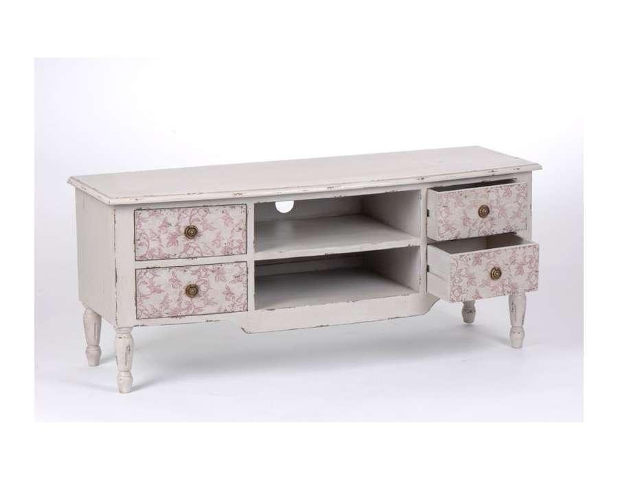 meuble tv bois patine – Artzein.com
