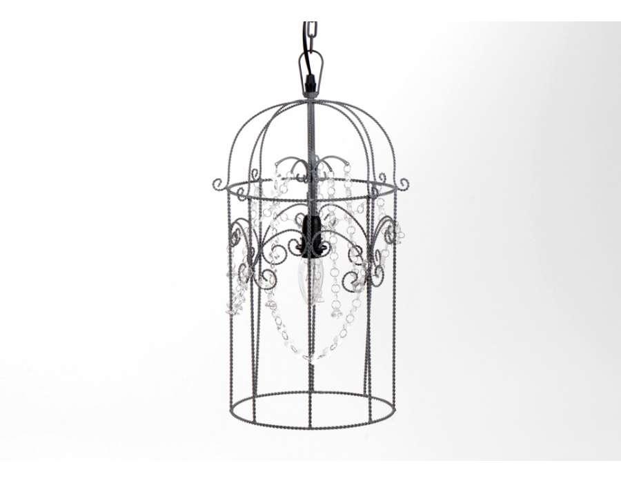 lustre romantique noir forme conique. Black Bedroom Furniture Sets. Home Design Ideas