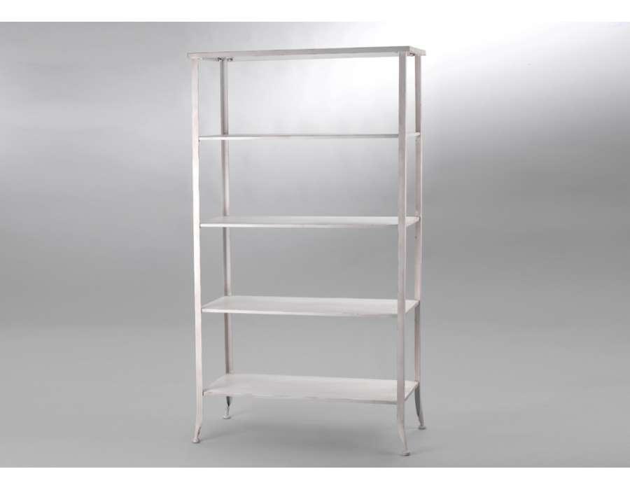 grande etag re m tal blanc vieilli amadeus. Black Bedroom Furniture Sets. Home Design Ideas
