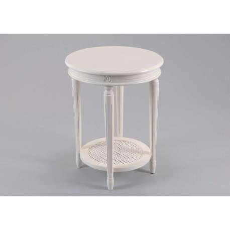 petite table ronde blanc table de lit. Black Bedroom Furniture Sets. Home Design Ideas