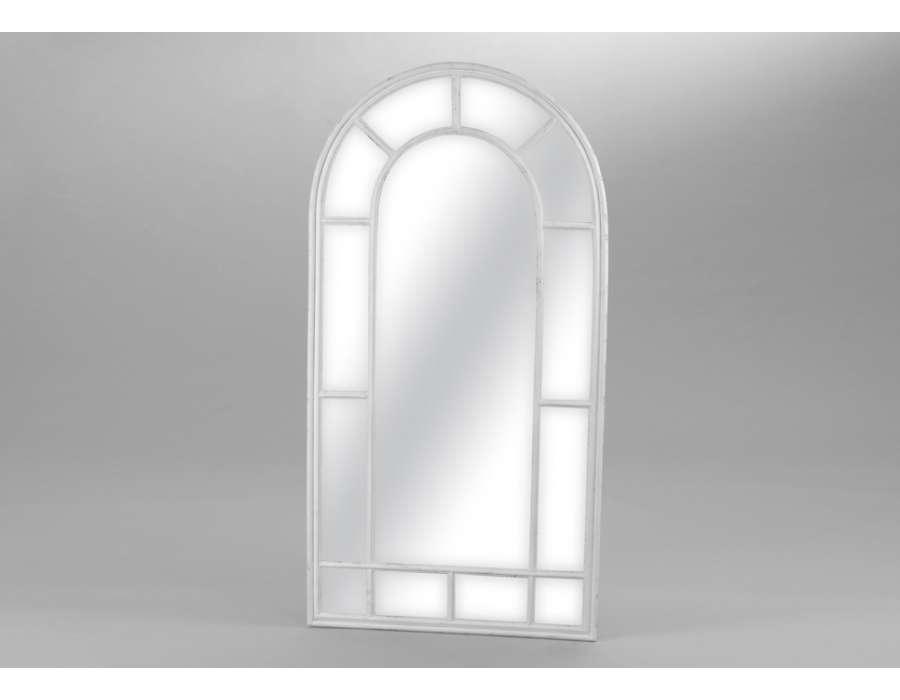 Miroir arrondi quadrill amadeus gris for Miroir arrondi
