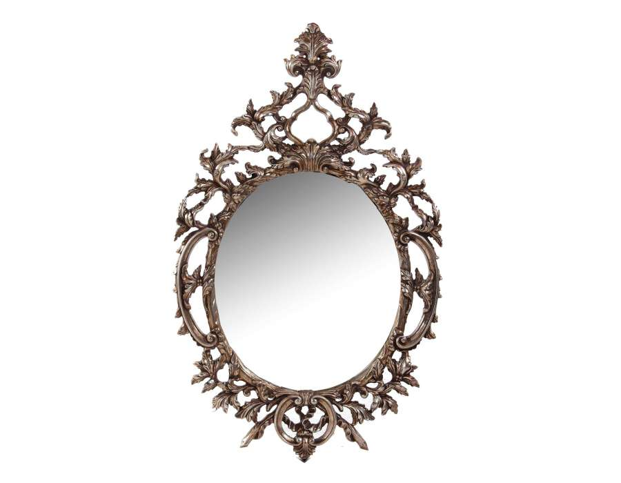 Grand miroir dor baroque vical home for Miroir rond grand
