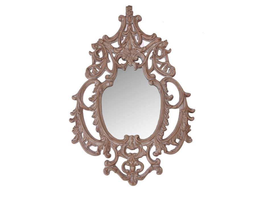 Grand miroir baroque en bois vical home for Grand miroir baroque