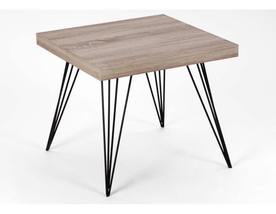 Bout de canap r tro for Pied metal pour meuble