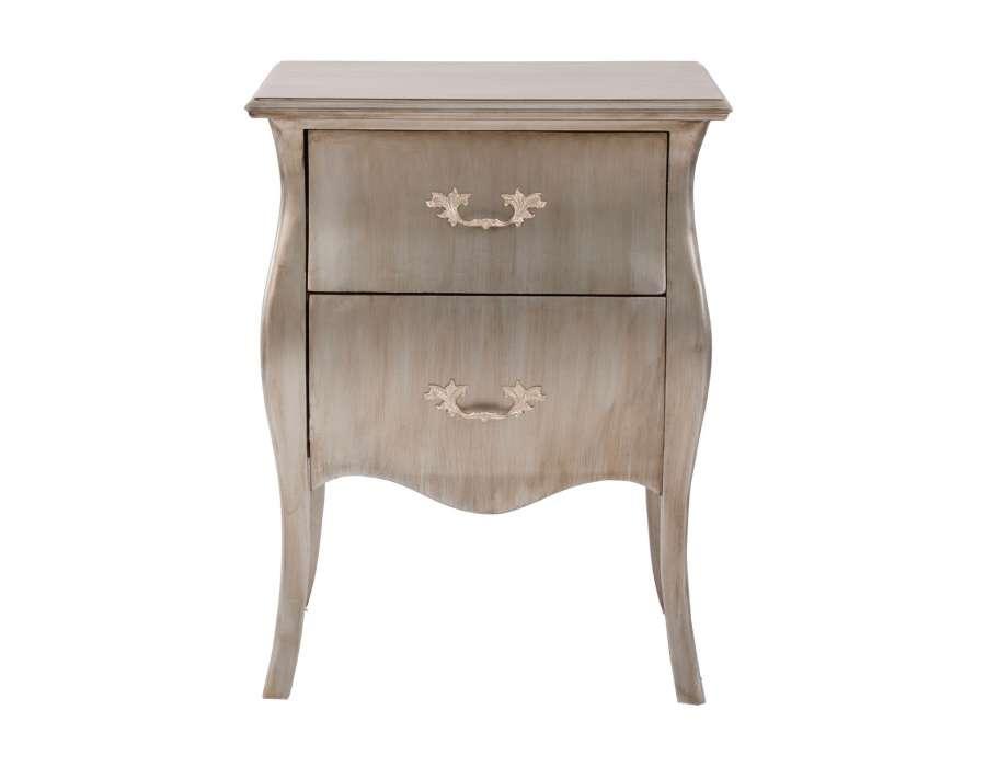 De chevet baroque argent e arlette cette table de chevet - Table de nuit baroque ...
