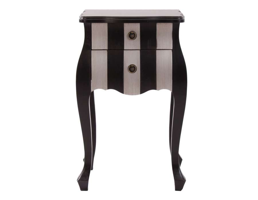 de chevet baroque argent e arlette cette table de chevet. Black Bedroom Furniture Sets. Home Design Ideas
