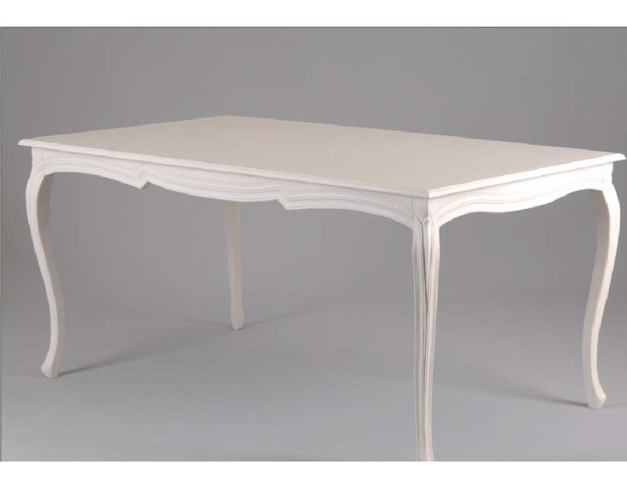 Table salle a manger blanche for Table a manger blanche
