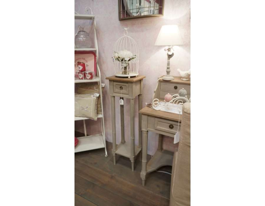 sellette haute en bois c rus lin d coration amadeus. Black Bedroom Furniture Sets. Home Design Ideas
