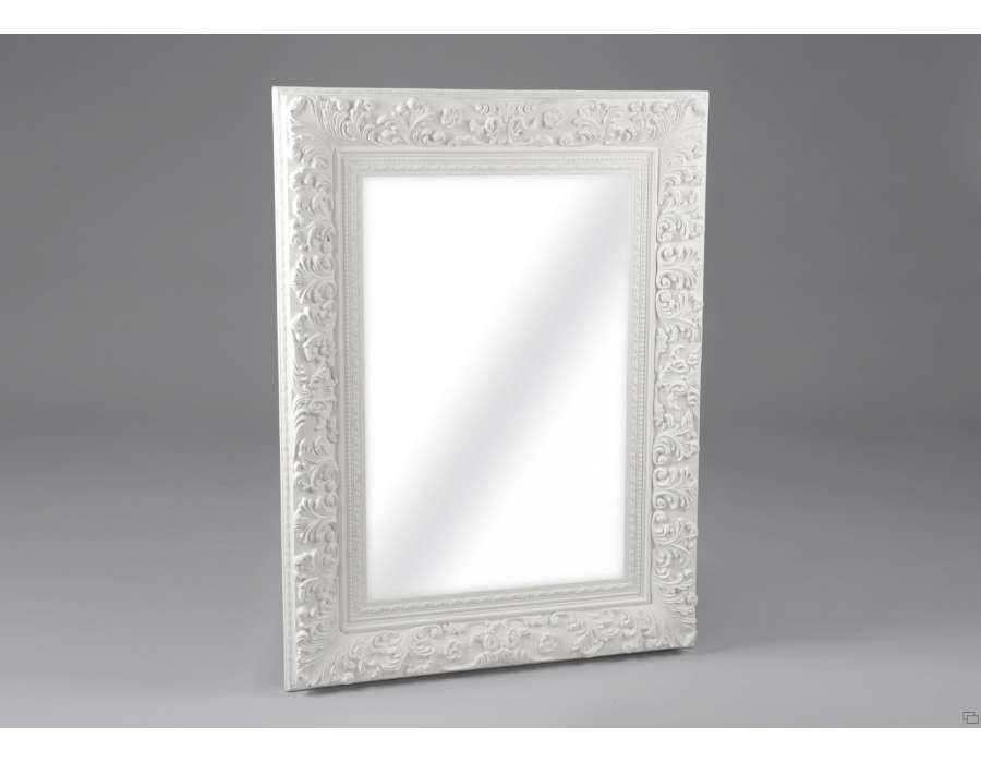 Amadeus miroir rectangulaire demeure en m tal 80 x 180 cm for Miroir blanc rectangulaire