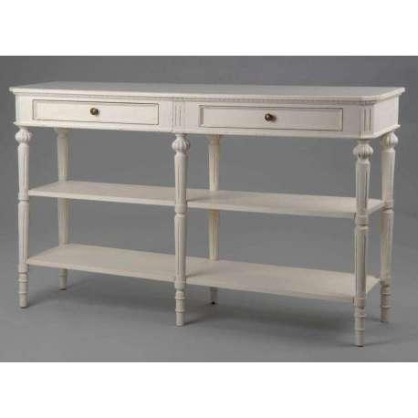 Meuble de drapier en bois blanc ou console drapier balnche - Meubles amadeus soldes ...