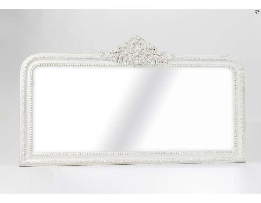 Grand miroir rectangulaire beige avec noeud for Grand miroir carre