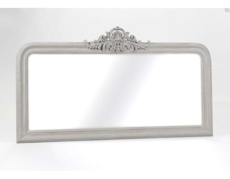 Prix des d coration murale 100 for Grand miroir gris