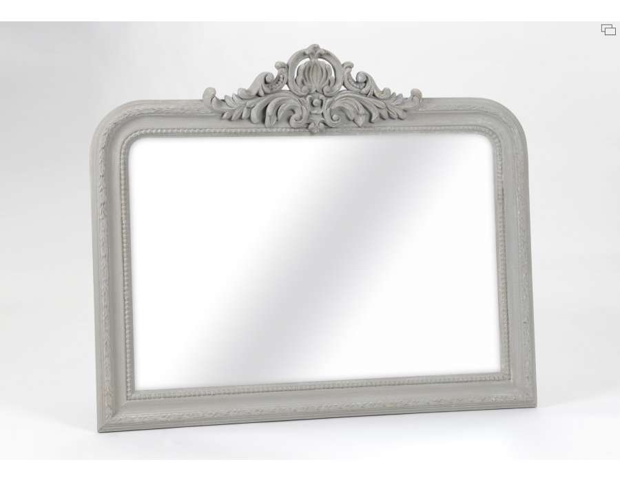 Miroir bois rectangulaire gris avec noeud for Miroir bois gris