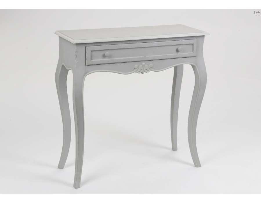 Meuble console gris clair romantique - Meuble console gris ...