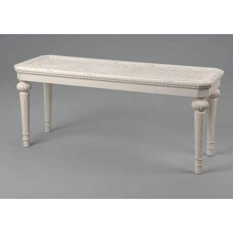 banquette blanche cann e des meubles amadeus. Black Bedroom Furniture Sets. Home Design Ideas
