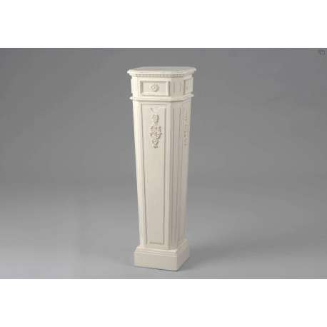 porte plante blanc sellette blanche en colonne. Black Bedroom Furniture Sets. Home Design Ideas