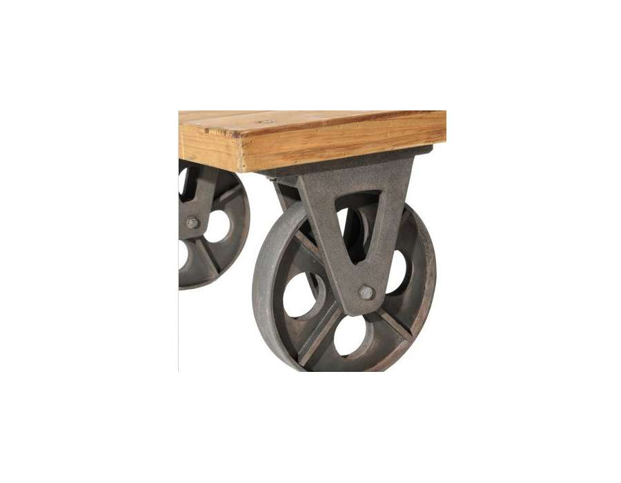 Table Basse Avec Bobine De Cable ~ Table Basse Industrielle Roulette Table Basse Roulettes